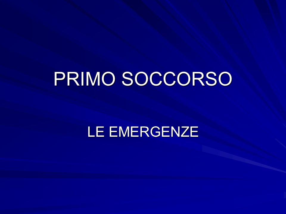 PRIMO SOCCORSO LE EMERGENZE