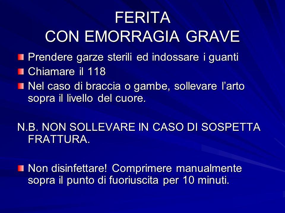 FERITA CON EMORRAGIA GRAVE