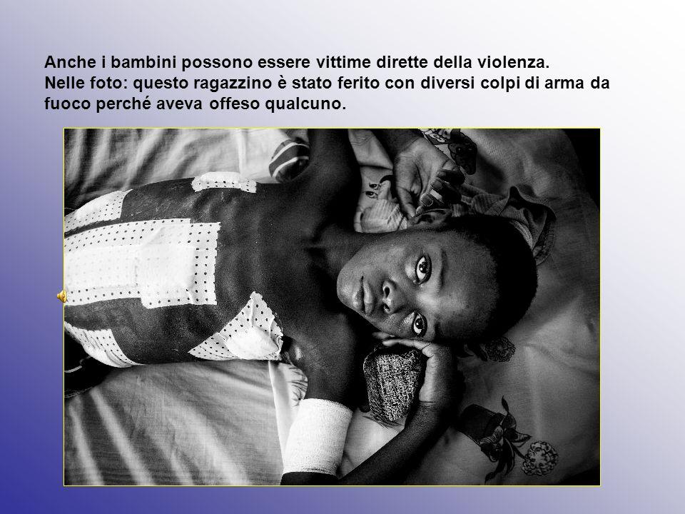 Anche i bambini possono essere vittime dirette della violenza