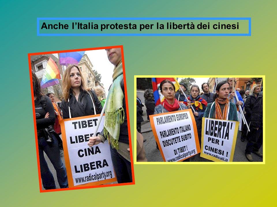 Anche l'Italia protesta per la libertà dei cinesi