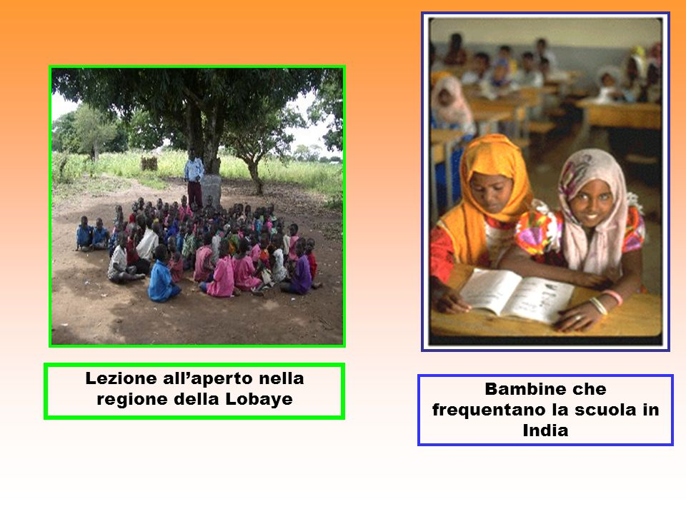 Lezione all'aperto nella regione della Lobaye