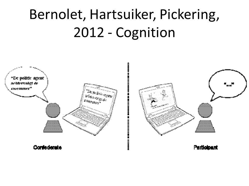 Bernolet, Hartsuiker, Pickering, 2012 - Cognition