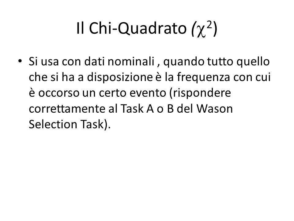 Il Chi-Quadrato (2)