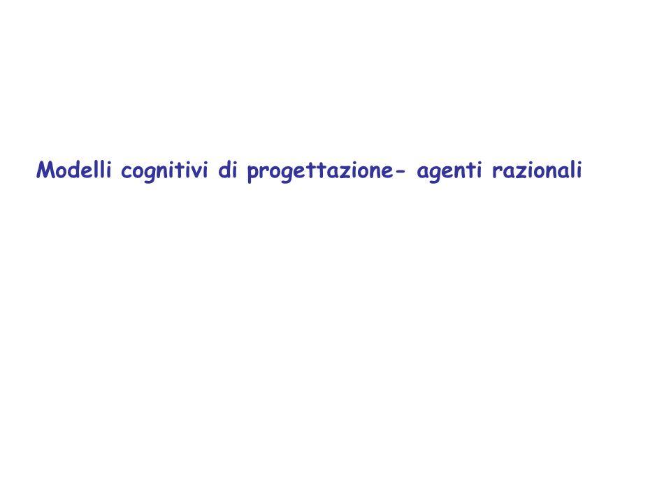 Modelli cognitivi di progettazione- agenti razionali
