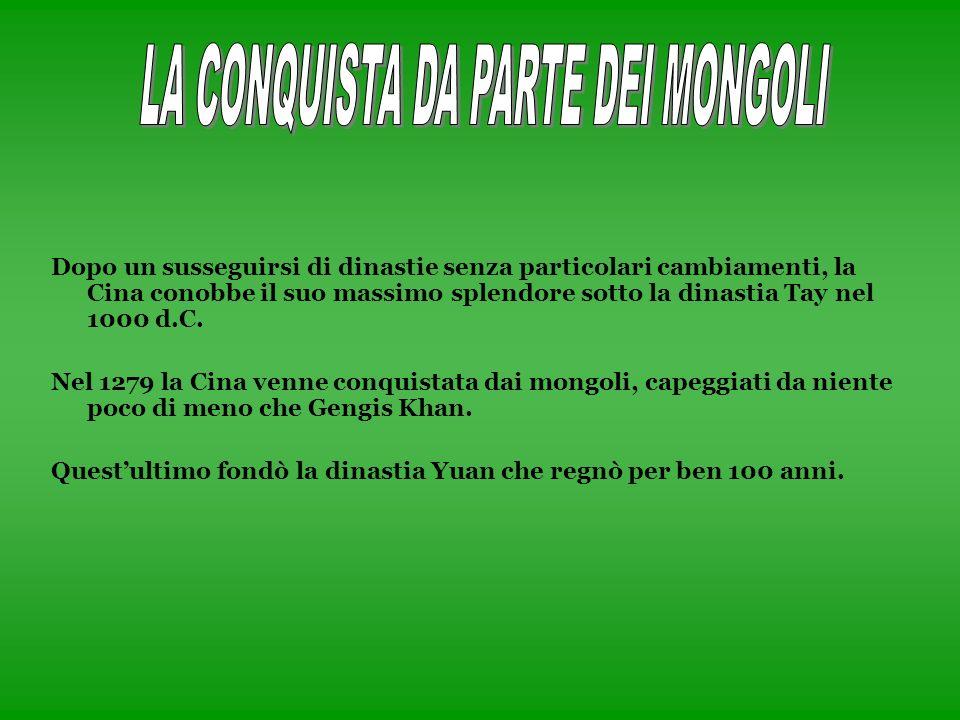 LA CONQUISTA DA PARTE DEI MONGOLI