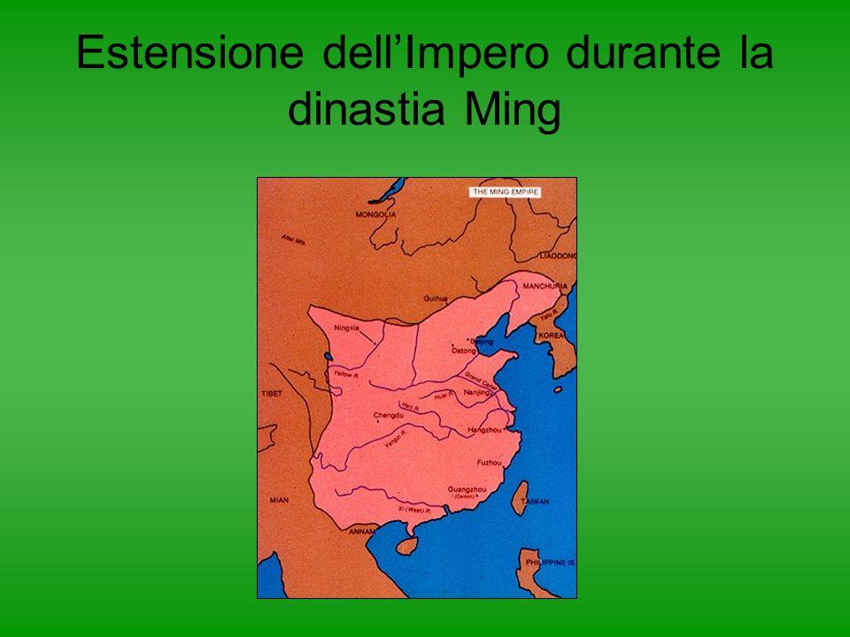 Estensione dell'Impero durante la dinastia Ming