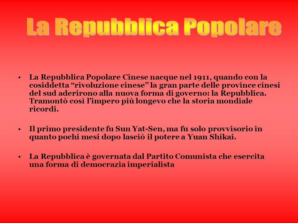 La Repubblica Popolare