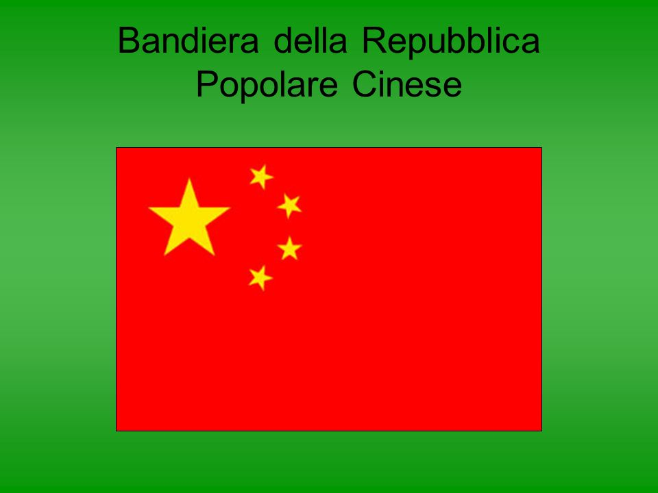 Bandiera della Repubblica Popolare Cinese