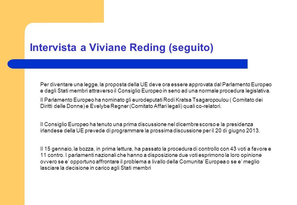 Intervista a Viviane Reding (seguito)