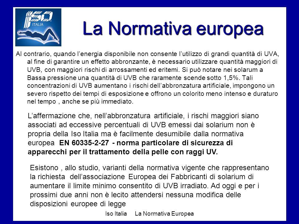 Iso Italia La Normativa Europea