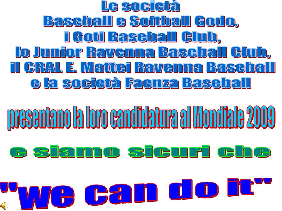 Baseball e Softball Godo, i Goti Baseball Club,