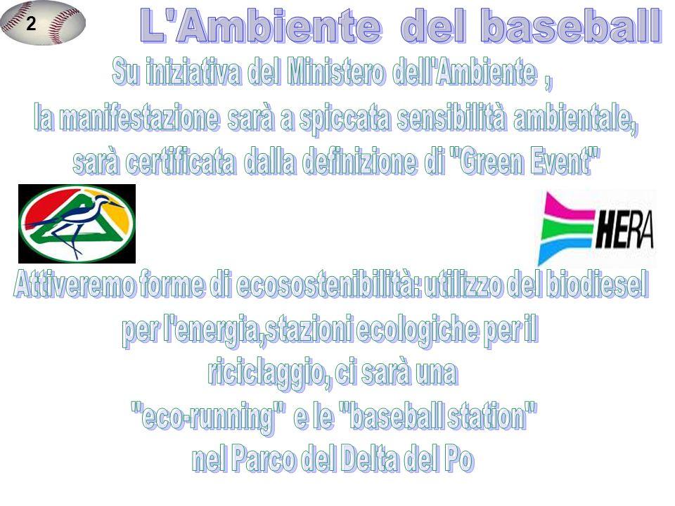 2 L Ambiente del baseball Su iniziativa del Ministero dell Ambiente ,