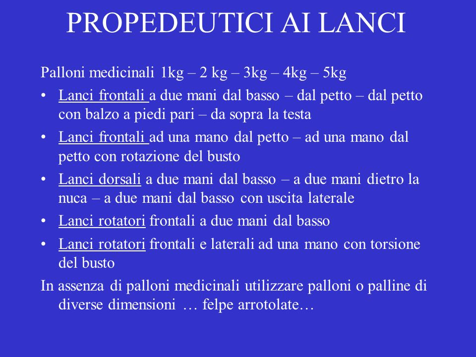 PROPEDEUTICI AI LANCI Palloni medicinali 1kg – 2 kg – 3kg – 4kg – 5kg