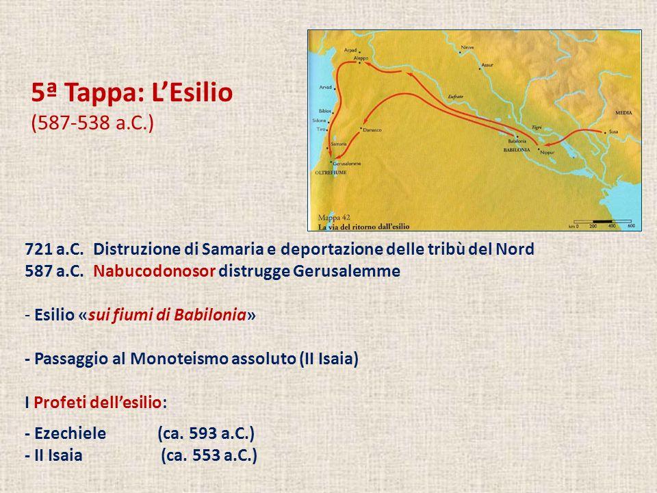 5ª Tappa: L'Esilio (587-538 a.C.)