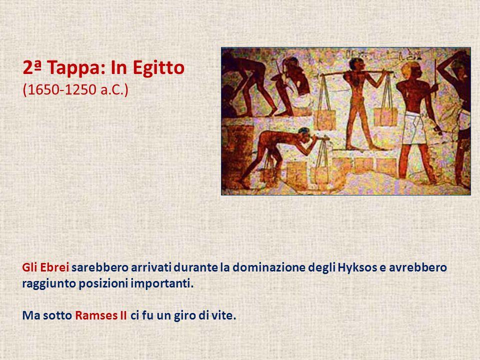 2ª Tappa: In Egitto (1650-1250 a.C.)