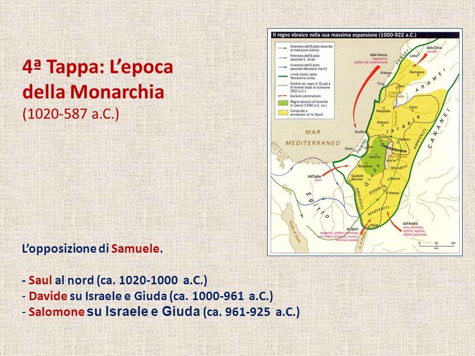 4ª Tappa: L'epoca della Monarchia (1020-587 a.C.)
