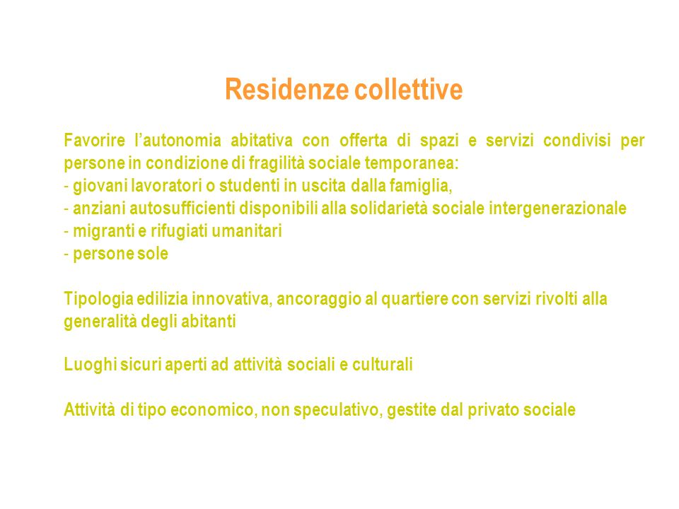 Residenze collettive