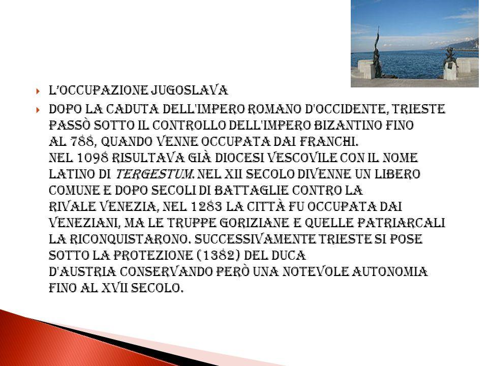 L'occupazione jugoslava