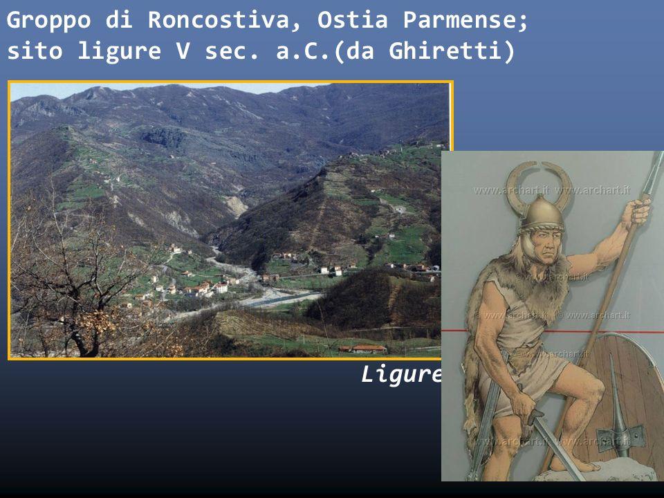 Groppo di Roncostiva, Ostia Parmense; sito ligure V sec. a. C