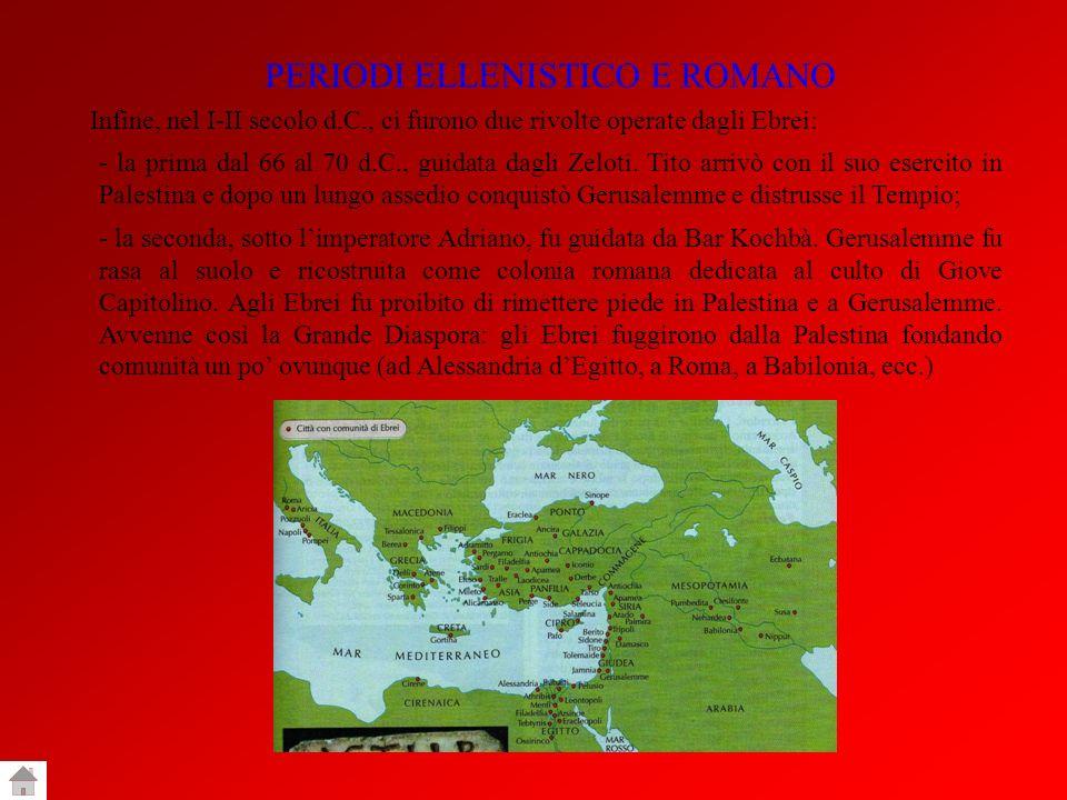 PERIODI ELLENISTICO E ROMANO
