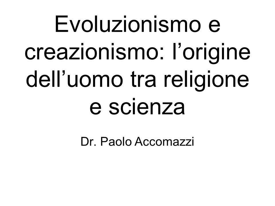 Evoluzionismo e creazionismo: l'origine dell'uomo tra religione e scienza