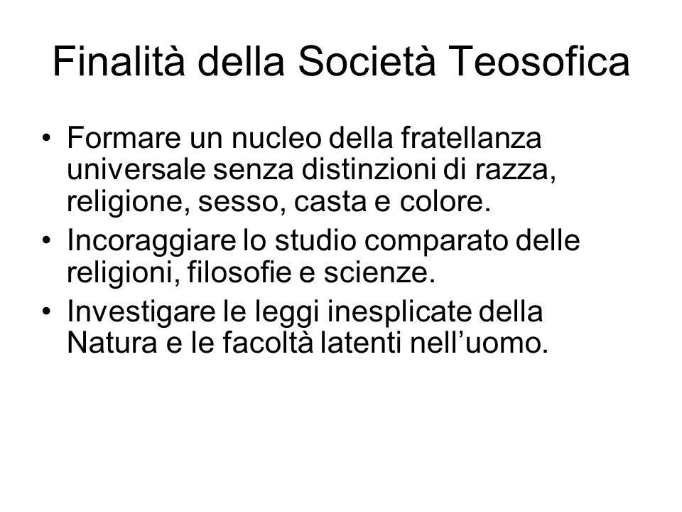 Finalità della Società Teosofica