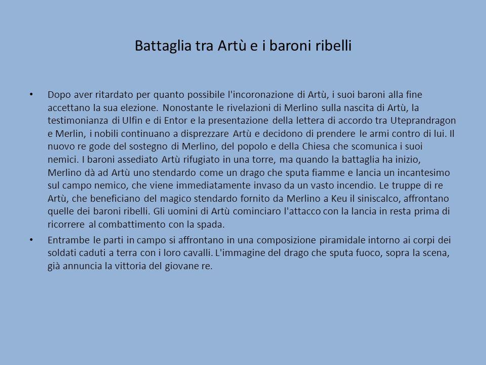 Battaglia tra Artù e i baroni ribelli
