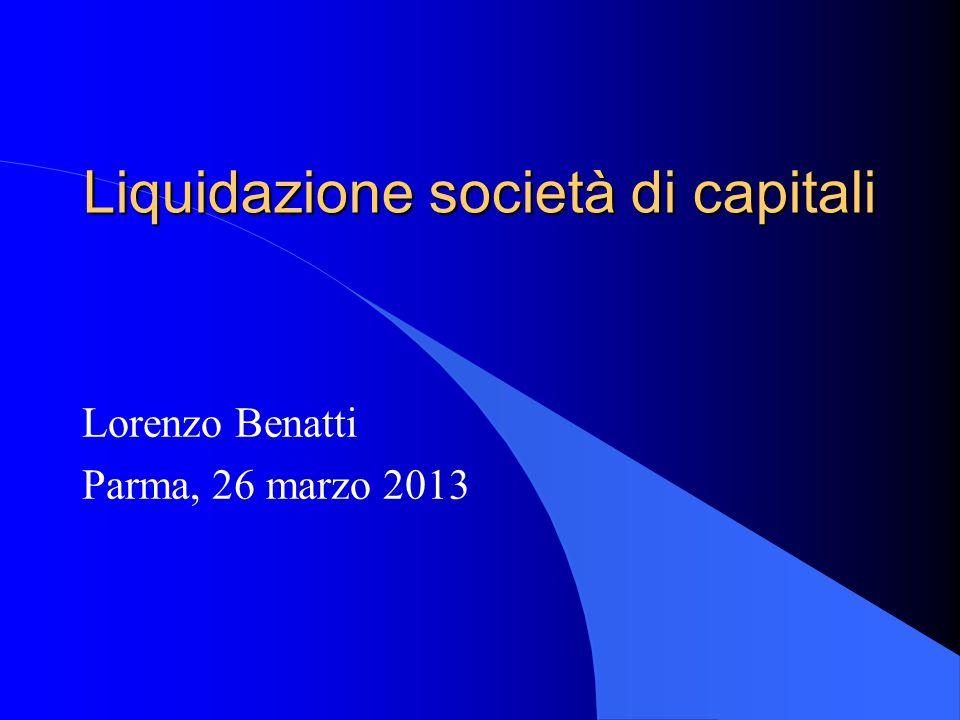 Liquidazione società di capitali