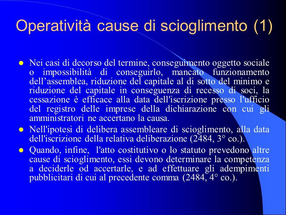 Operatività cause di scioglimento (1)