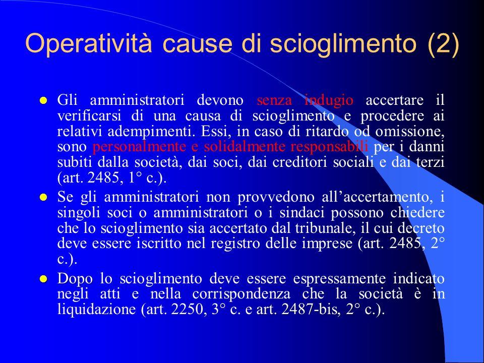 Operatività cause di scioglimento (2)