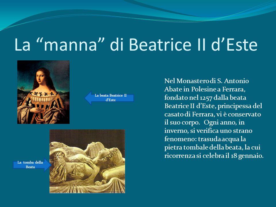 La manna di Beatrice II d'Este