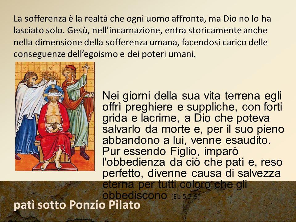patì sotto Ponzio Pilato