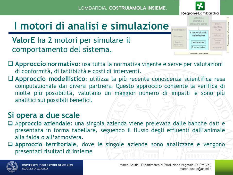 I motori di analisi e simulazione