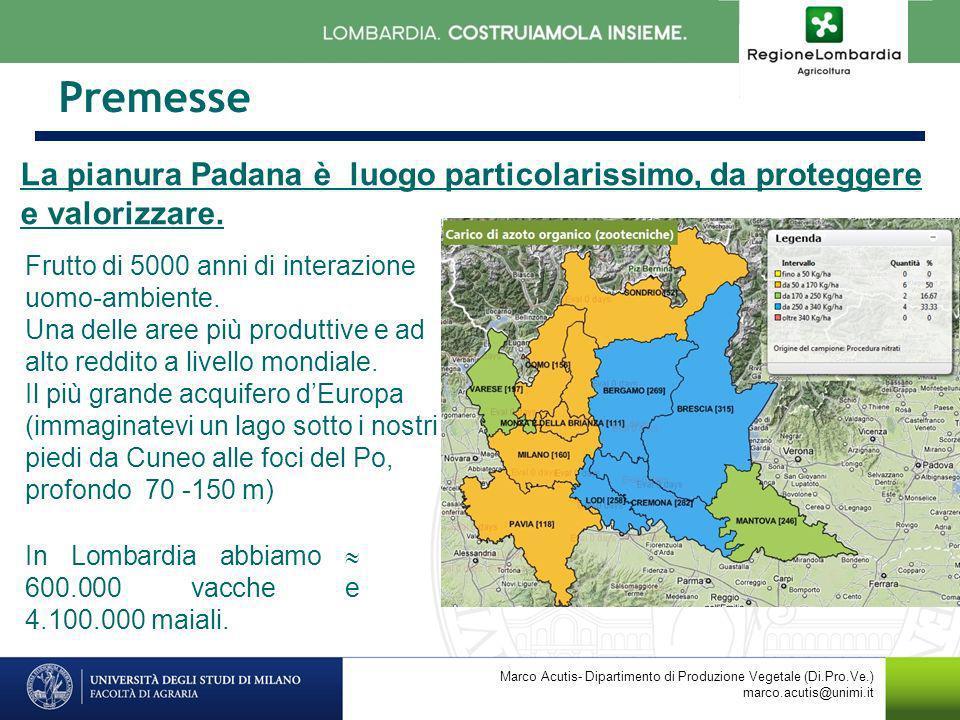 Premesse La pianura Padana è luogo particolarissimo, da proteggere e valorizzare. Frutto di 5000 anni di interazione uomo-ambiente.