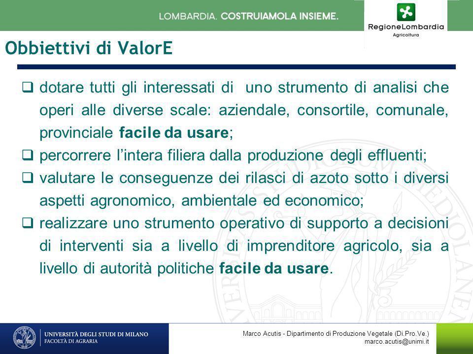Obbiettivi di ValorE