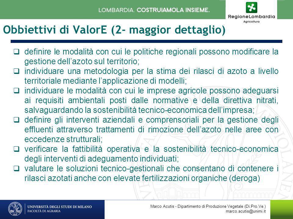 Obbiettivi di ValorE (2- maggior dettaglio)