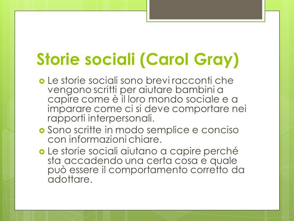 Storie sociali (Carol Gray)