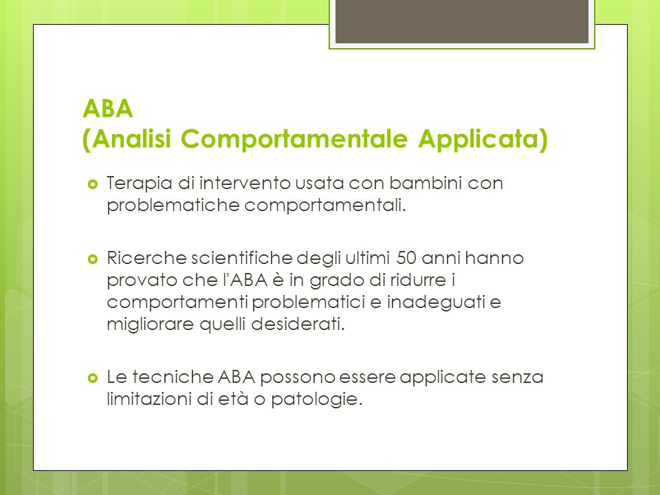 ABA (Analisi Comportamentale Applicata)