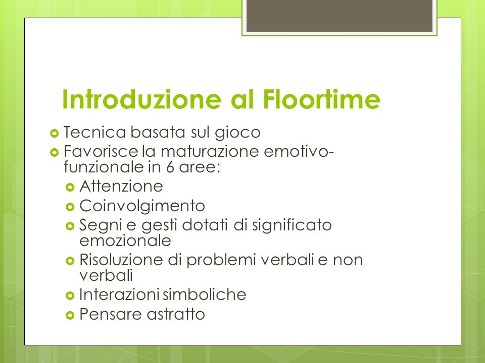 Introduzione al Floortime
