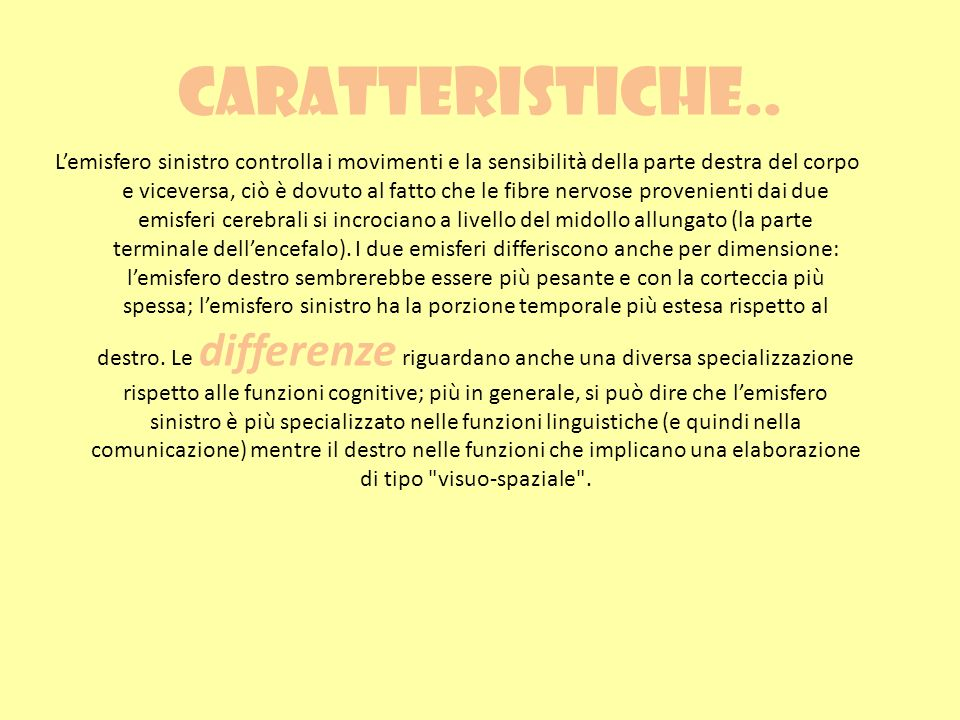 Caratteristiche..