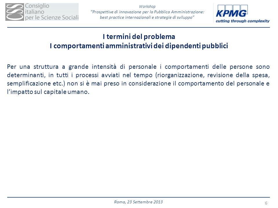I comportamenti amministrativi dei dipendenti pubblici