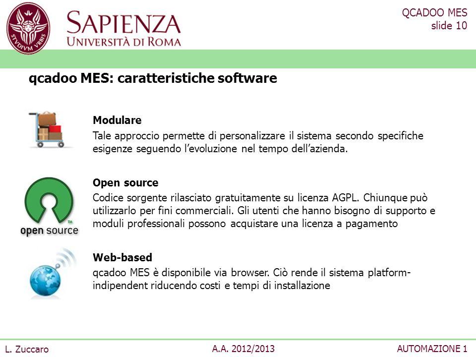 qcadoo MES: caratteristiche software