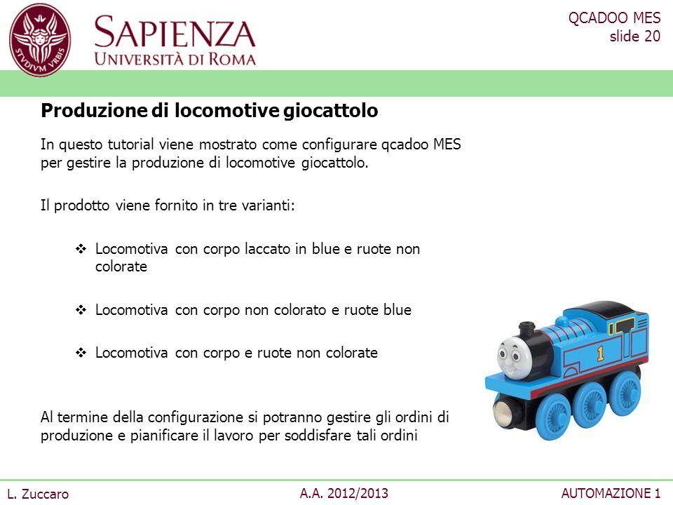 Produzione di locomotive giocattolo