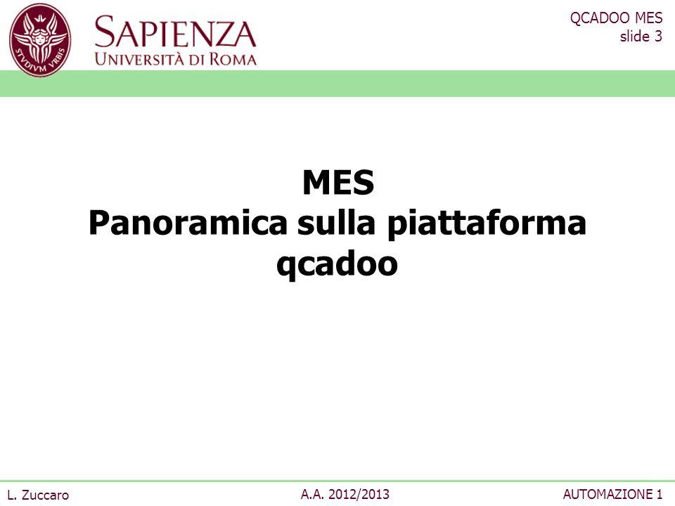MES Panoramica sulla piattaforma qcadoo