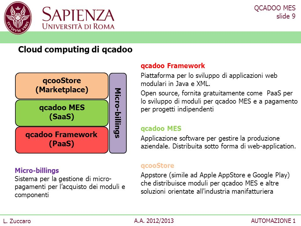 Cloud computing di qcadoo