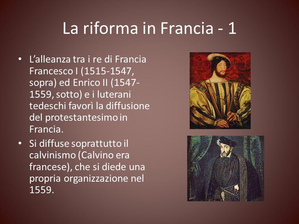 La riforma in Francia - 1