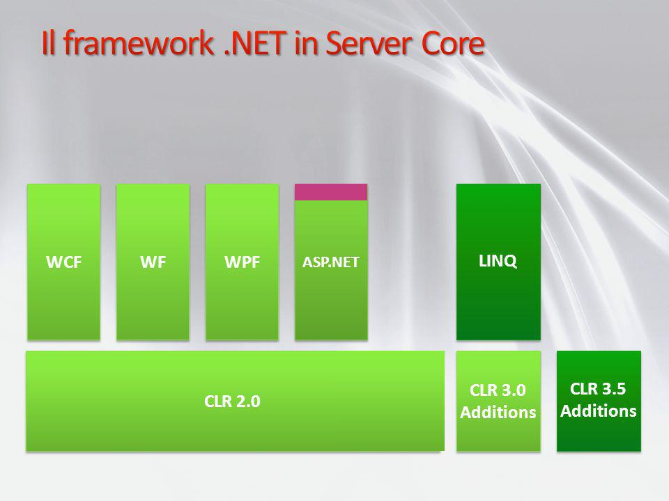 Il framework .NET in Server Core