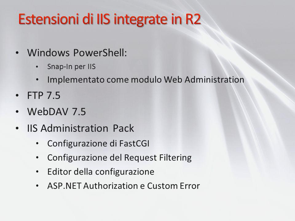 Estensioni di IIS integrate in R2