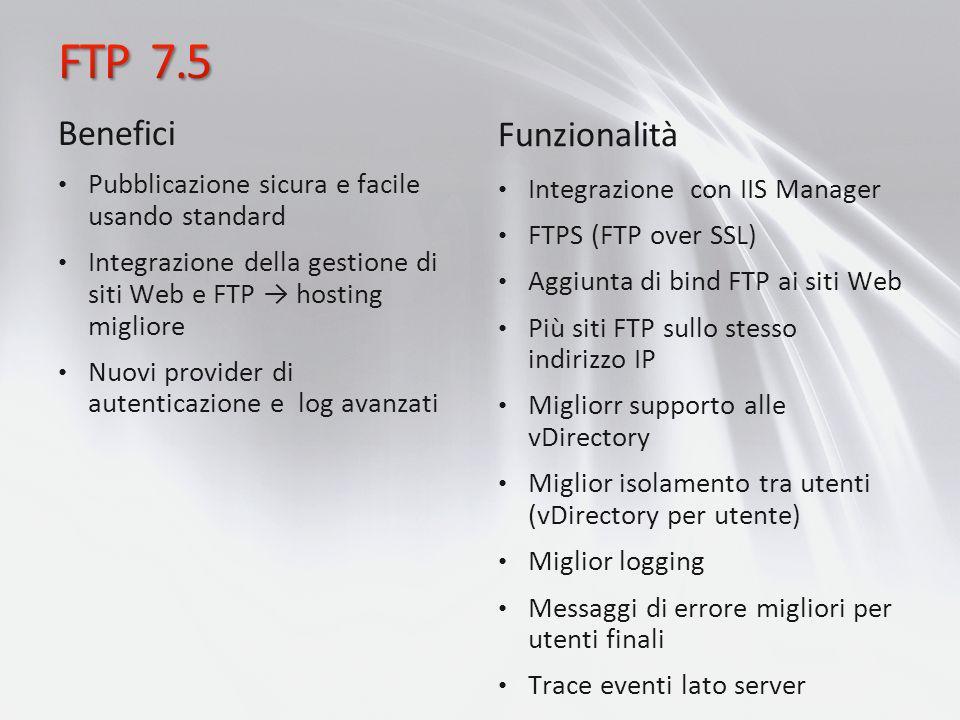FTP 7.5 Benefici Funzionalità