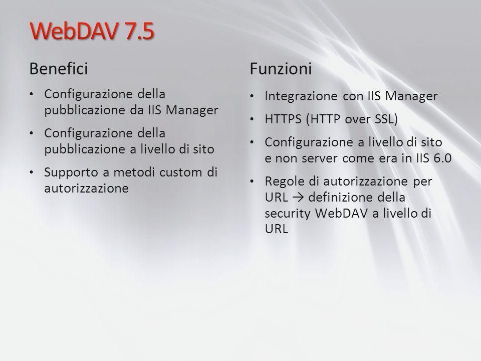 WebDAV 7.5 Benefici Funzioni